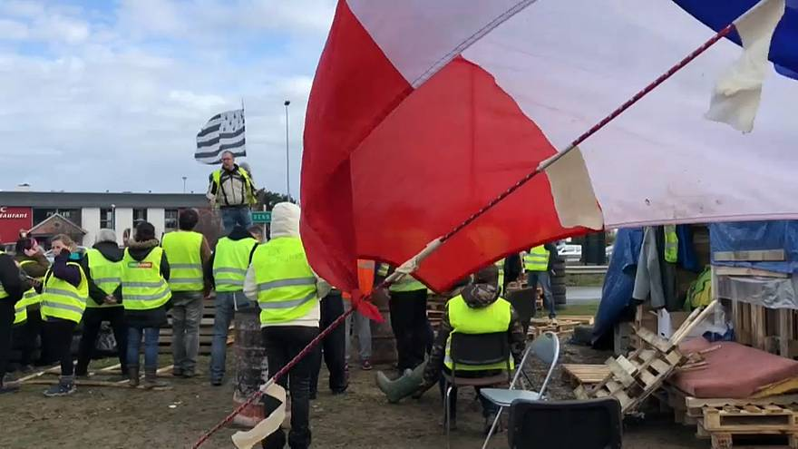 Gilet Gialli: tra i manifestanti nella città di Rennes