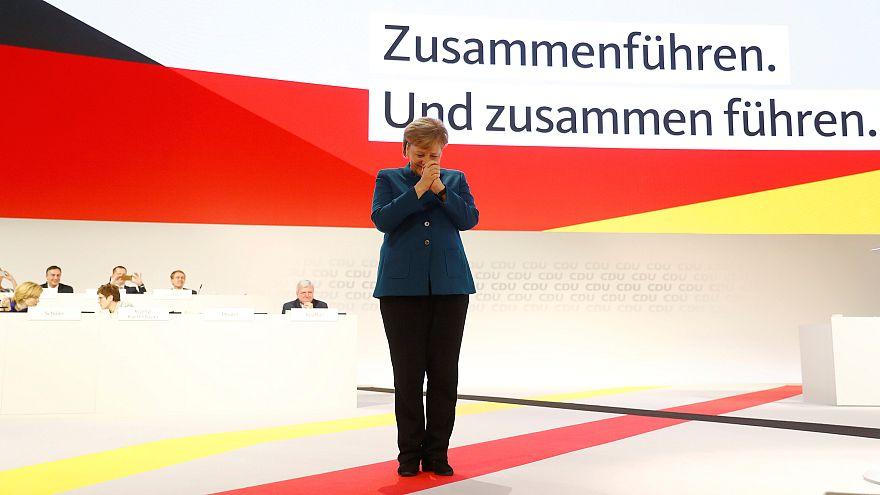 Despedida emocionada de Merkel