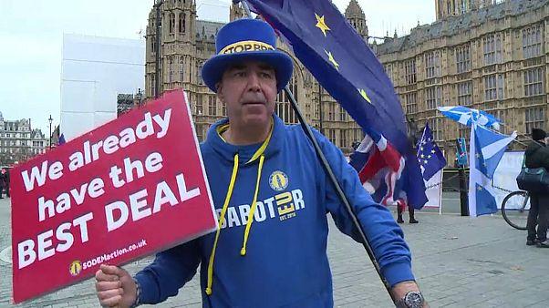 Egyszemélyes tüntetés a brexit ellen