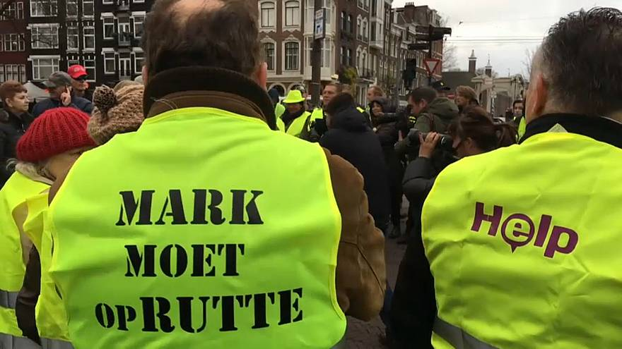 Sarı Yelekliler gösterileri Hollanda'da