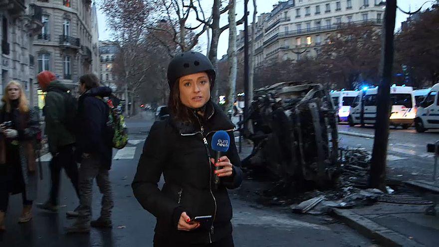 """Euronews-Reporterin bei Krawallen in Paris: """"1000 Menschen wurden festgesetzt"""""""
