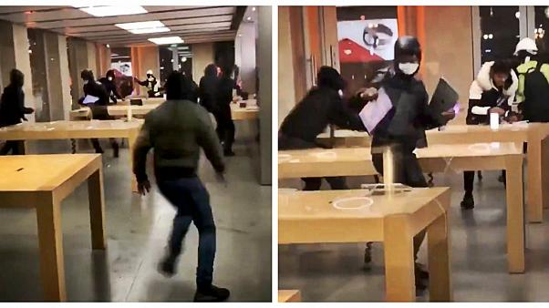 فرانسه؛ غارتگران فروشگاه اپل را خالی کردند