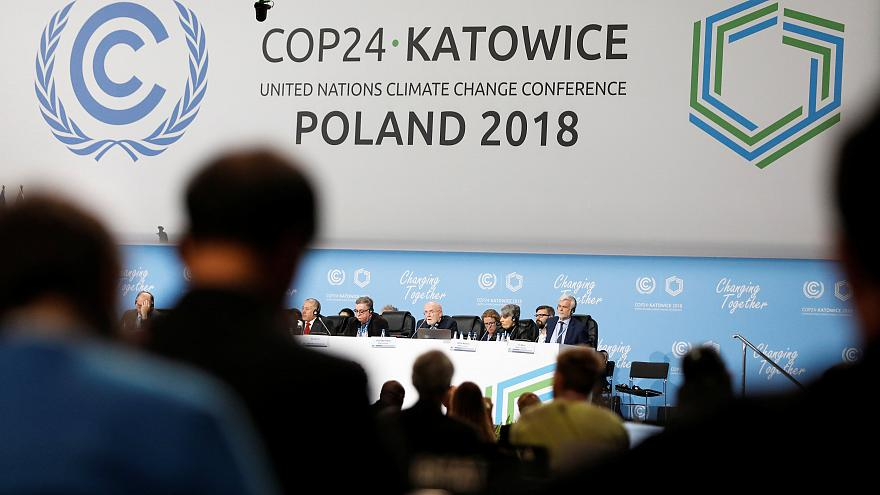 Participants take part in the plenary session during COP24