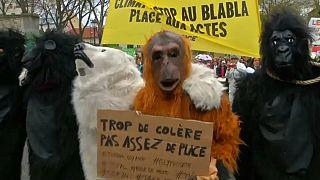 شاهد: مظاهرات في باريس للمطالبة بحماية المناخ والحد من الإحتباس الحراري