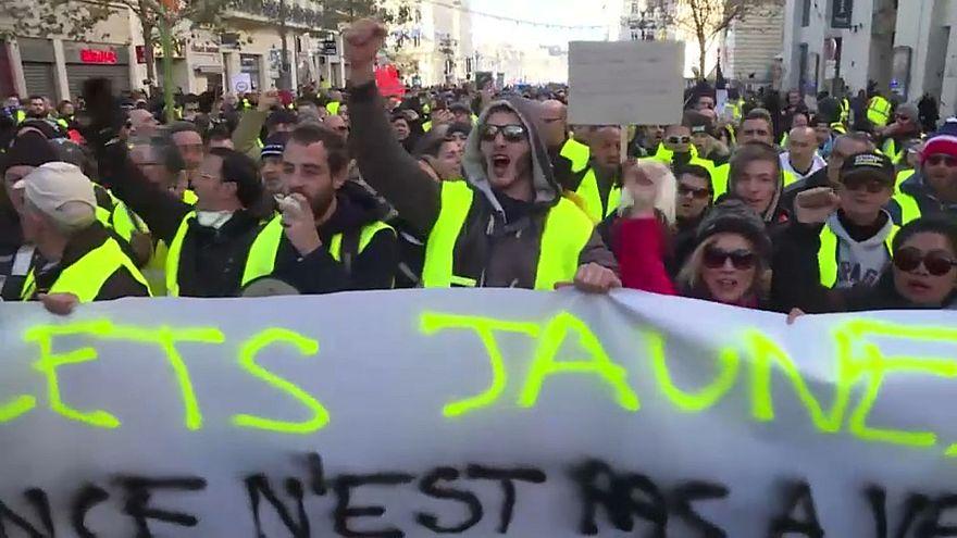 Manifestation de Gilets jaune à Marseille, le 08 décembre