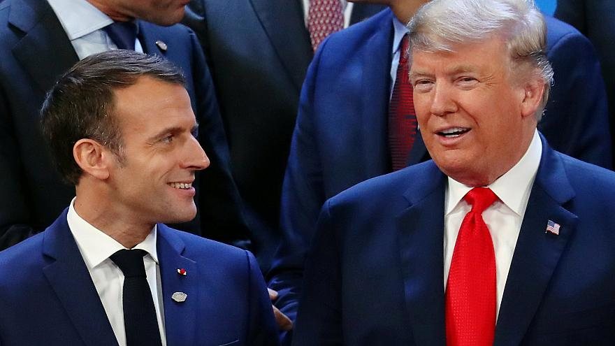 Fransa Cumhurbaşkanı Emmanuel Macron - ABD Başkanı Donald Trump