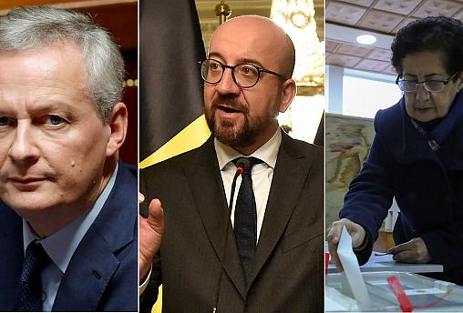 French finance minister, Belgian Prime Minister and a voter in Armenia