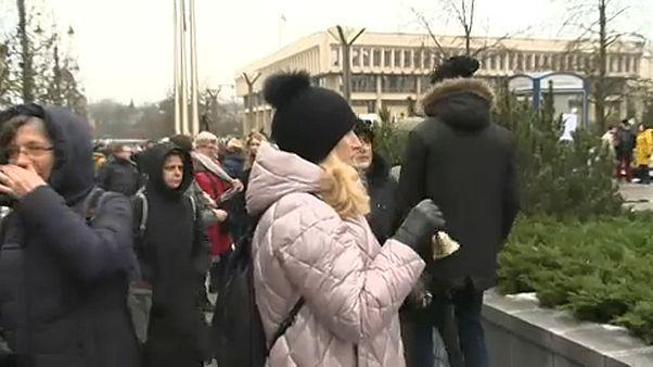 Акция протеста учителей в Вильнюсе
