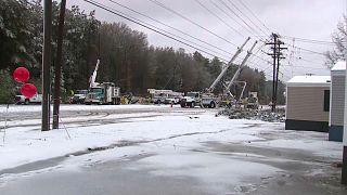 فيديو: مقتل شخص و 310 آلاف بدون كهرباء بسبب عاصفة ثلجية جنوب شرق أمريكا