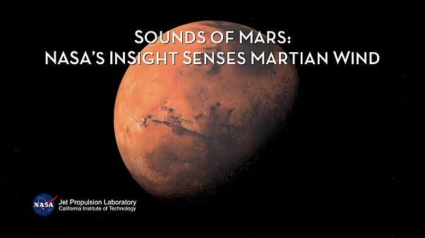 Sonda capta vibrações do vento em Marte