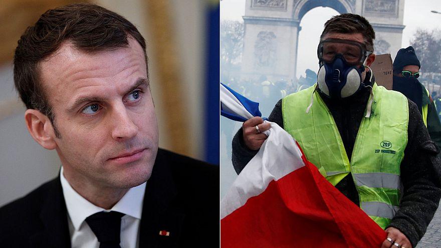 Gilet gialli: Macron concede 10 miliardi di misure per salariati e pensionati. Basteranno?