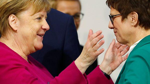 Angela Merkel et Annegret Kramp-Karrenbauer