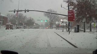 На южные штаты США обрушились снегопады