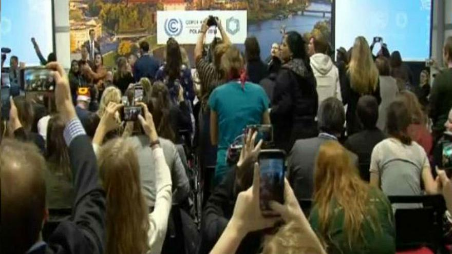 Protest erupts at COP24 climate conference during U.S. delegate speech