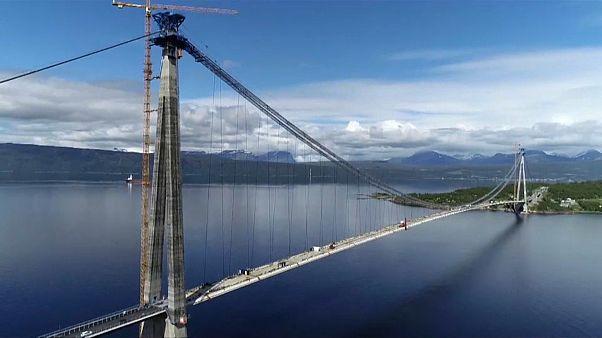 Самый длинный висячий мост Севера