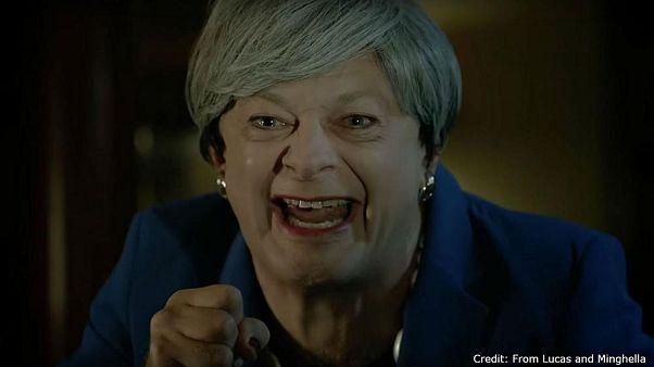 Lustig oder nicht? Theresa May als wütender Gollum