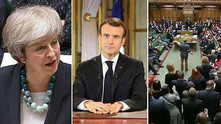 Theresa May, Emmanuel Macron, British parliament