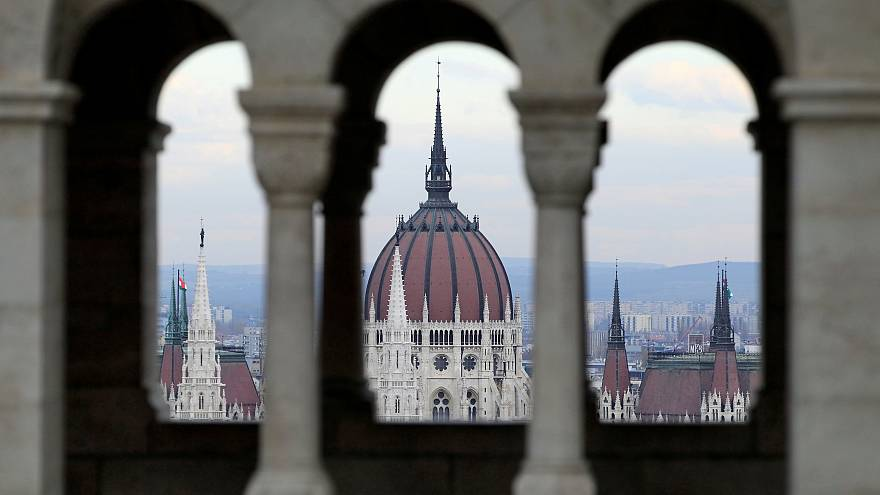 General view of Hungary's Parliament as seen from the Fisherman's Bastion.