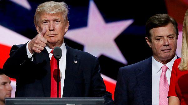 ABD Başkanı Trump, eski kampanya müdürü Paul Manafort ile birlikte