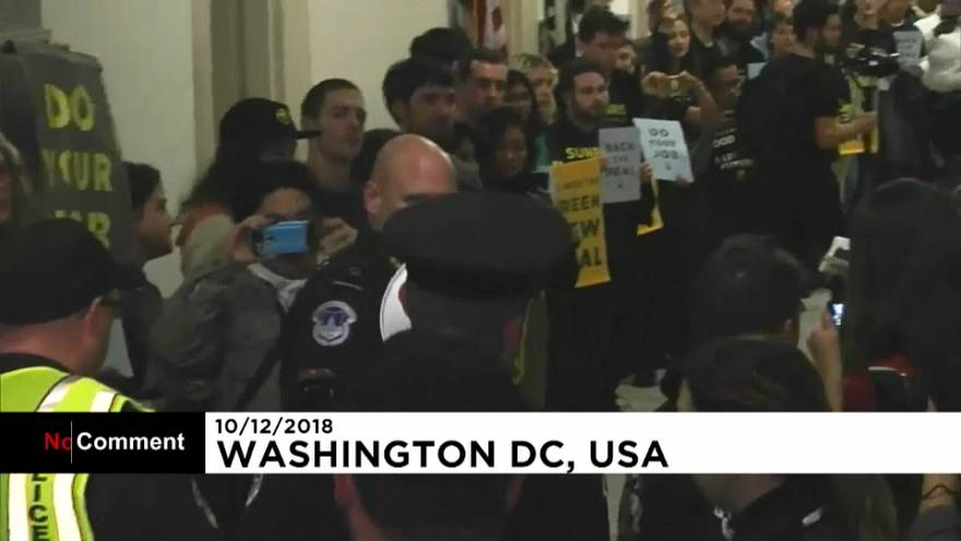 Climate protest at Pelosi's office spurs arrests