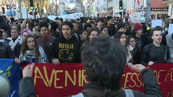 Mobilisation lycéenne à Marseille
