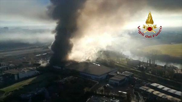 Incendio en una de las principales plantas de residuos de Roma