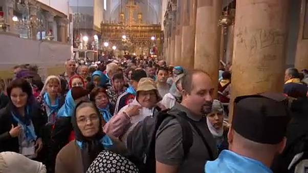 Rekordszámú turista Betlehemben