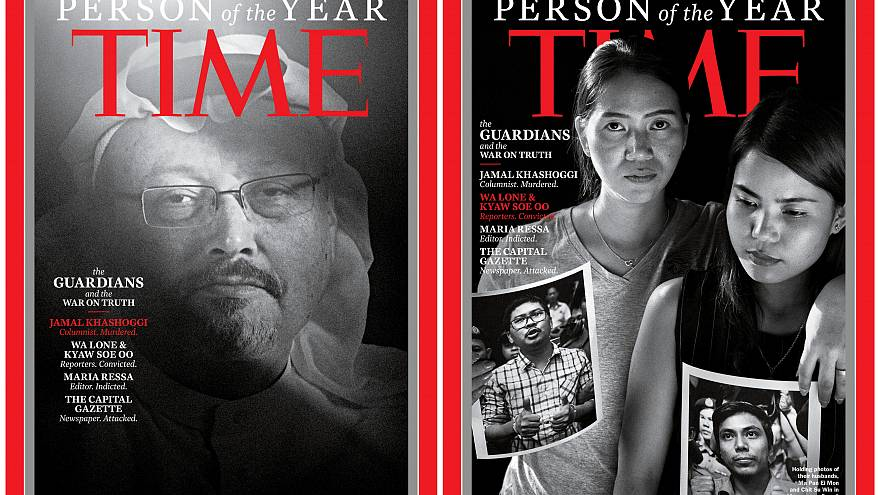 Time magazine honours persecuted journalists as 'Person of the Year' in 2018
