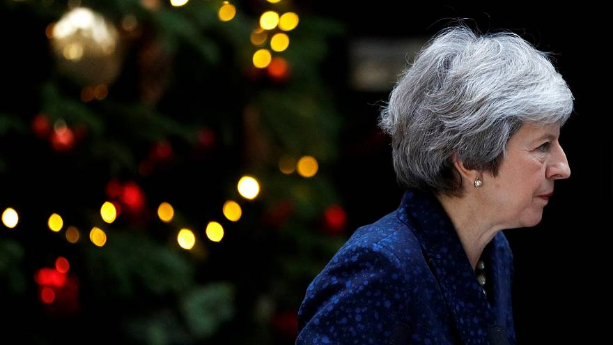 Prime Minister Theresa May addresses the media outside 10 Downing Street