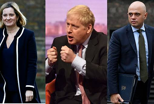 Amber Rudd, Boris Johnson, Sajid Javid