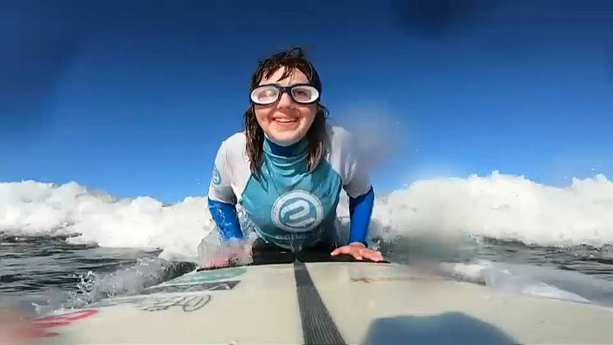 Carmen Lopez: blind surfer aiming to triumph at World Adaptive Surfing Championship