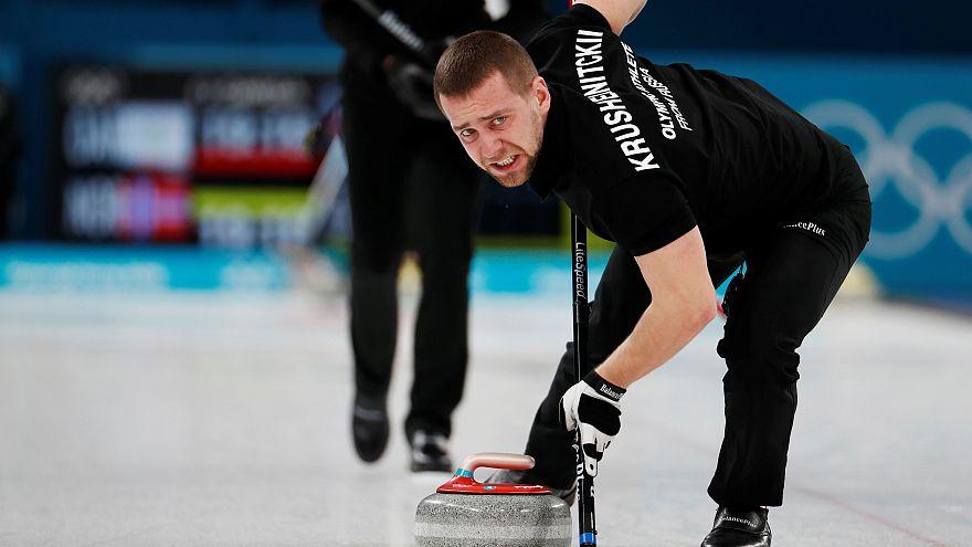 A doppingvétségen ért curlinges, Alekszandr Kruselnyickij Pjongcsangban