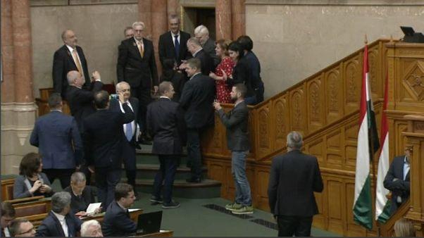 Skandal im ungarischen Parlament