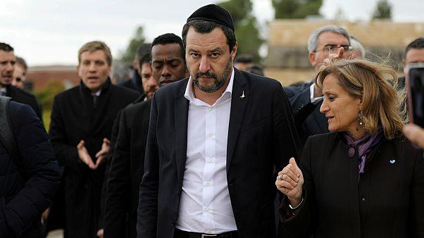 سالفيني أثناء زيارته لإسرائيل