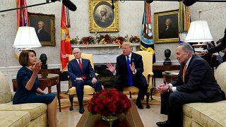 Video | Başkan Trump ile demokratlar arasında kameralar önünde sert tartışma
