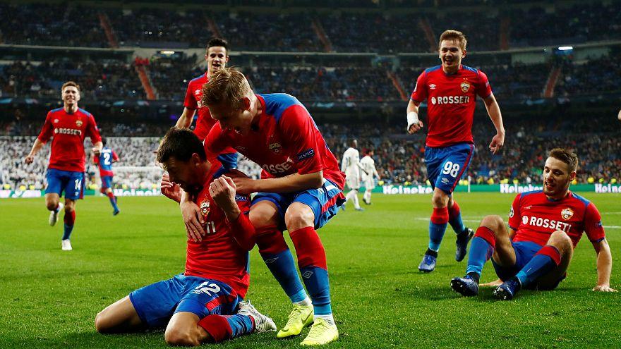 سيسكا موسكو يصعق ريال مدريد بثلاثية في سانتياغو برنابيو