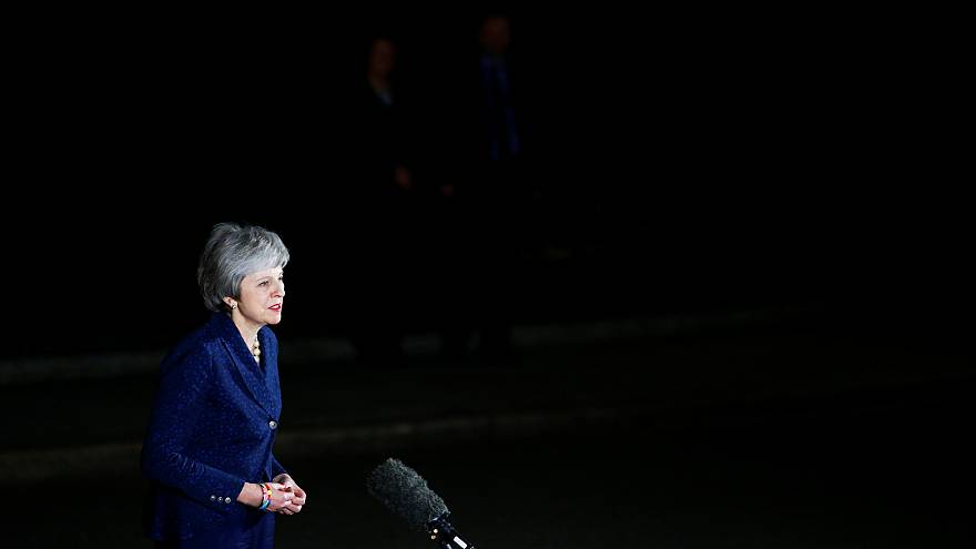 Theresa May outside 10 Downing Street, London on Dec 12, 2018.