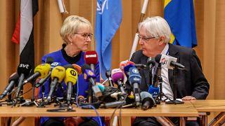 وزيرة خارجية السويد: مشاورات السلام اليمنية جرت بروح إيجابية والنتائج ستقدم لمجلس الأمن يوم الجمعة