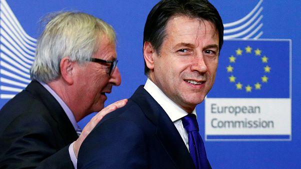 Jean-Claude Juncker et Giuseppe Conte