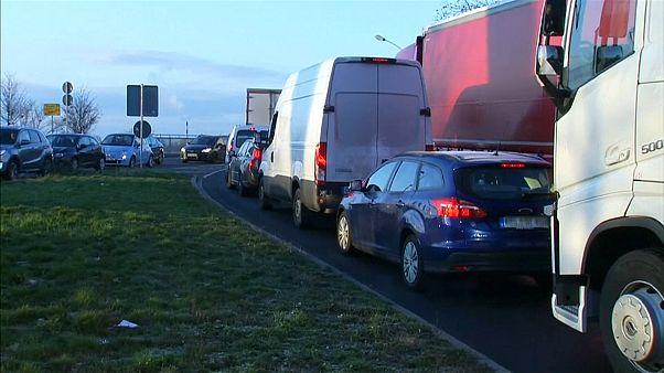 Caos na fronteira entre França e Alemanha