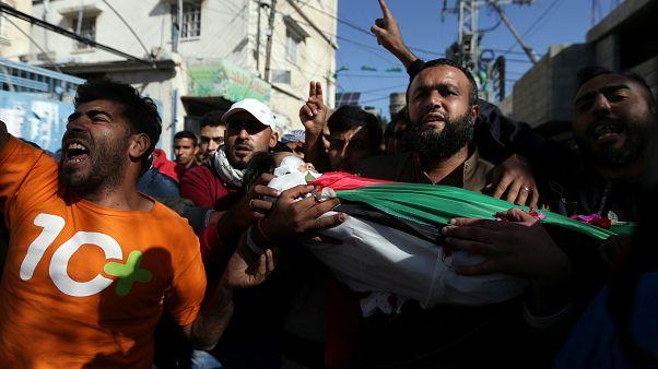 İsrail saldırısında hayatını kaybeen 4 yaşındaki Filistinli bebek Çarşamba