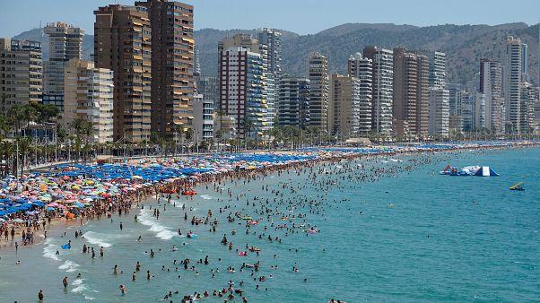 Benidorm (España) durante la ola de calor del pasado agosto