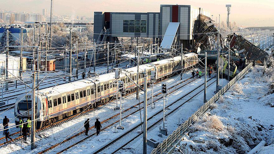 سانحه واژگونی قطار در ترکیه