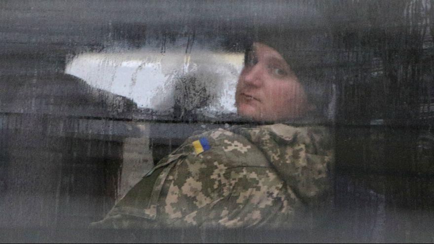 یکی از سربازان بازداشت شده اوکراین