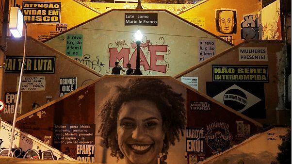 Mural em São Paulo em tributo à vereadora assassinada Marielle Franco