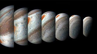 NASA'nın uzay aracı Juno Jüpiter'den yeni fırtına görüntüleri paylaştı