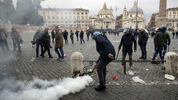Ρώμη: Επεισόδια από χούλιγκανς της Λάτσιο