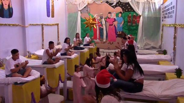 Brezilya cezaevleri Noel öncesi süsleme yarışmasıyla şenlendi