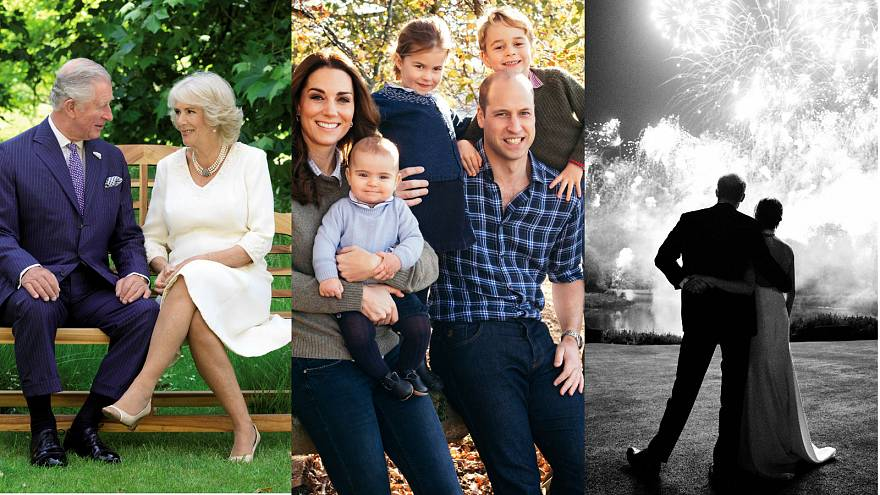 British royal family releases Christmas cards