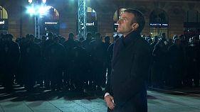 Macron rinde tributo a las víctimas del atentado de Estrasburgo